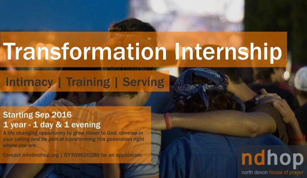 Transformation Internship 2016
